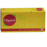 Oligosol zinc nickel cobalt 28 ampoules