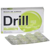 Drill pastilles maux de gorge anis menthe sans sucre