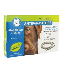 VETOFORM Collier antiparasitaire Grand chien +25kg