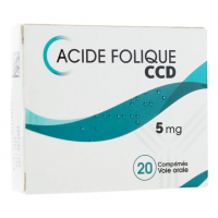 Acide folique CCD 5 mg 20 comprimés