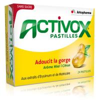 Activox Pastilles Miel Citron - 24 pastilles