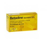 Betadine Dermique 10% solution 10 unidoses