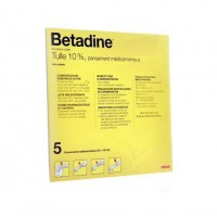 Betadine Dermique Tulle 10% 5 pansements