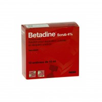 Betadine Scrub 4% solution 10 unidoses