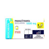 Biogaran Paracétamol 1000 mg 8 comprimés effervescents sécables