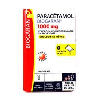 Biogaran Paracétamol 1000 mg 8 sachets