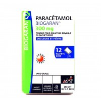 Biogaran Paracétamol 300 mg 12 sachets