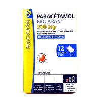 Biogaran paracétamol 500 mg 12 sachets