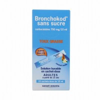 Bronchokod sans sucre adultes solution buvable 15 sachets