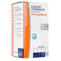 Calcium Vitamine D3 500mg / 400UI Biogaran 60 comprimés à sucer