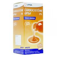 Carbocistéine toux grasse 750mg/15ml sans sucre en dosettes