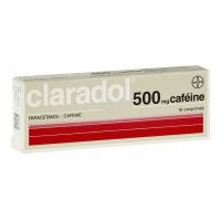 Claradol 500mg/50mg paracétamol/caféine 16 comprimés
