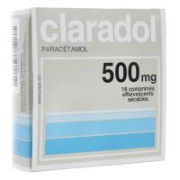 Claradol Paracétamol 500 mg 16 comprimés effervescents