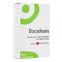 Dacudoses solution pour lavage oculaire 24 unidoses