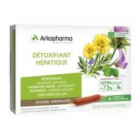 Détoxifiant Hépatique Arkofluides formule plus concentrée ampoules