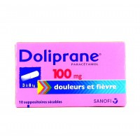 Doliprane 100mg 10 suppositoires sécables