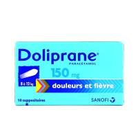 Doliprane 150mg 10 suppositoires