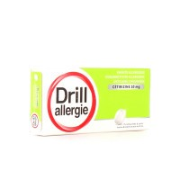 Drill Allergie 10mg Cétirizine 7 comprimés