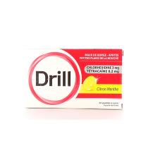 Drill maux de gorge 24 pastilles citron menthe
