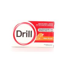 Drill pastilles maux de gorge miel rosat