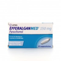 EfferalganMed 150 mg 10 suppositoires