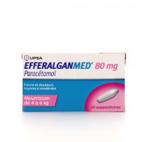 EfferalganMed 80 mg 10 suppositoires