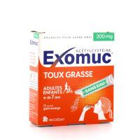 Exomuc Acétylcystéine Toux Grasse sans eau 200mg