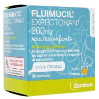 Fluimucil Expectorant 200mg Adultes/Enfants 30 sachets