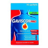 Gaviscon Pro menthe sans sucre sachets suspension buvable