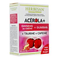Herbesan - ACEROLA+ Ginseng Guarana - 30 comprimés à croquer