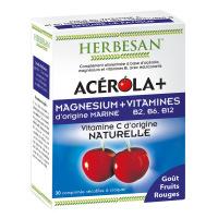Herbesan - Acerola+ Magnésium & Vitamines - 30 comprimés à croquer