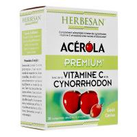 Herbesan - acérola premium vitamine c 500 - 30 comprimés