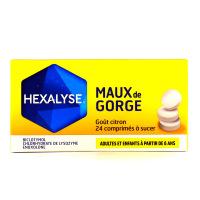 Hexalyse Goût citron 24 comprimés