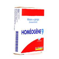 Homeogène 9 maux de gorge enrouements 60 comprimés Boiron