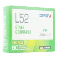 L52 Etats Grippaux Comprimés Orodispersibles