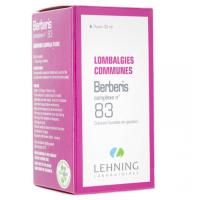 Lehning Berberis Complexe 83 Solution buvable en gouttes 30 ml