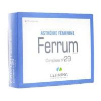 Lehning Ferrum Complexe 29 60 comprimés