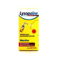 Lysopaïne Ambroxol Menthe Spray collutoire 20 ml