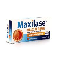 Maxilase en sirop ou comprimés Maux de gorge