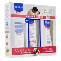 Mustela coffret bain et soin peau très sensible