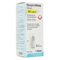 Mylan Ibuprofène 20mg/ml suspension buvable
