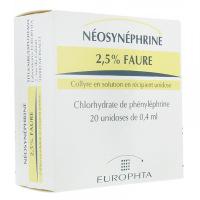 Néosynéphrine 2,5% Faure unidose de 0,4 ml