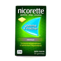 Nicorette gommes 2 mg sans sucre