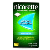 Nicorette menthe glaciale gommes 4 mg sans sucre