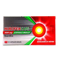 NurofenCaps ibuprofène 400 mg 10 capsules