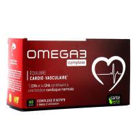 Oméga 3 Complexe équilibre cardio-vasculaire, EPA, DHA - 60 gélules