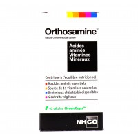 Orthosamine Acides aminés, Vitamines, Minéraux 42 gélules NHCO