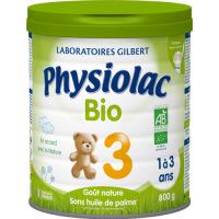 Physiolac 3 Croissance BIO 1 à 3 ans