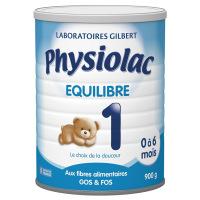 Physiolac Equilibre 1 Lait en poudre Boite de 900 grammes
