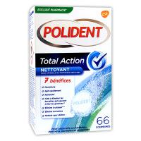 Polident total action nettoyant 66 comprimés